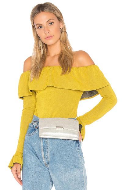endless-rose-Golden-Yellow-Ruffle-Bodysuit