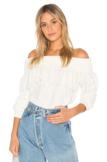 endless-rose-White-Fringe-Sweater