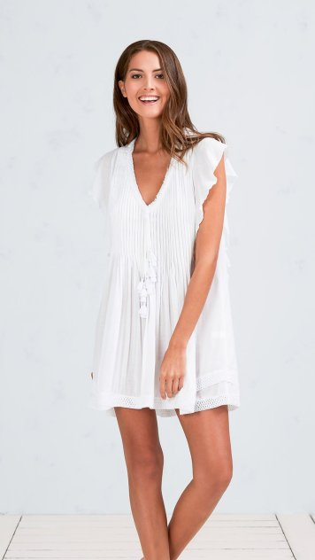 Mila_Mini_Dress_V_PL_White_Front